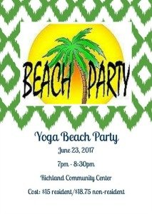 yoga beach party