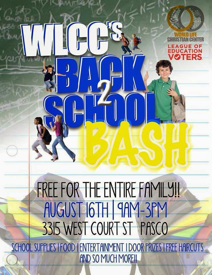 Back 2 School Bash & Hip Hop Concert At World Life Christian Center, Pasco Washington