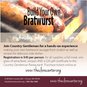 Build Your Own Brat At Walter Clore Wine & Culinary Center Prosser Washington