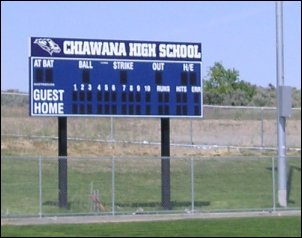 Chiawana High School Scoreboard
