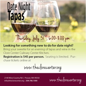 Date Night Tapas At Walter Clore Wine & Culinary Center, Prosser WA