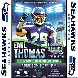 Earl Thomas Super Bowl Party in Kennewick, Wa