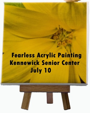 Fearless Acrylic Painting In Kennewick Senior Center