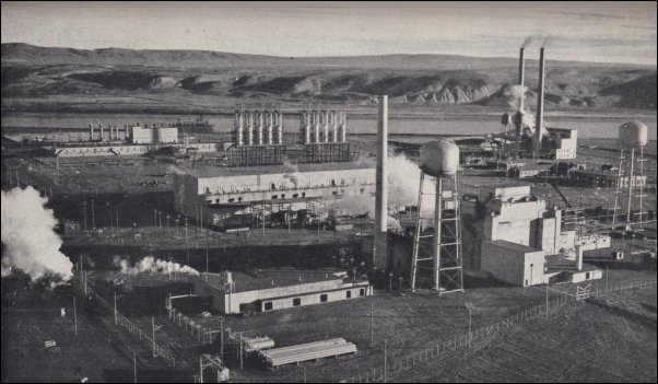 Hanford F-Reactor Plutonium Production Complex 1945