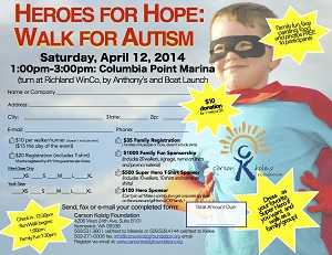 Walk for Autism at Columbia Point Marina Park in Richland, Wa