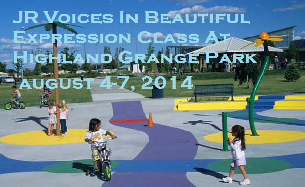 JR Voices In Beautiful Expression Class At Highland Grange Park Kennewick Washington