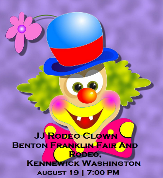 JJ Rodeo Clown At The Benton Franklin Fair And Rodeo, Kennewick Washington