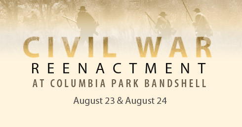 Civil War Reenactment Columbia Park East, Bandshell Kennewick, Washington