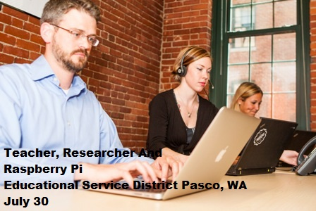 Teacher, Researcher And Raspberry Pi At Pasco, Washington