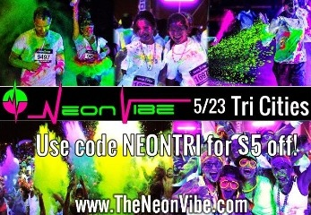 The Neon Vibe 5K After-Dark Fun Run at Toyota Center Kennewick