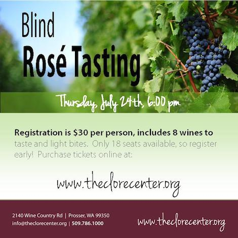 Blind Rosé Tasting At Walter Clore Wine & Culinary Center, Prosser Washington
